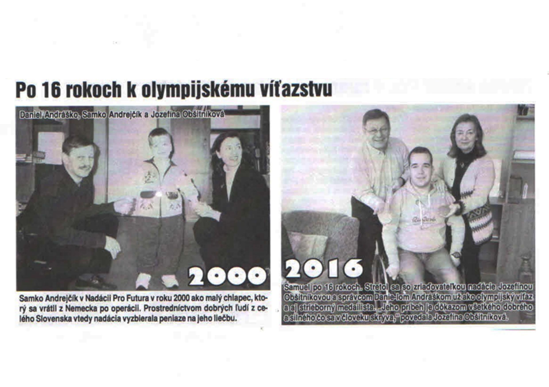 Po 16 rokoch k olympijskému víťazstvu